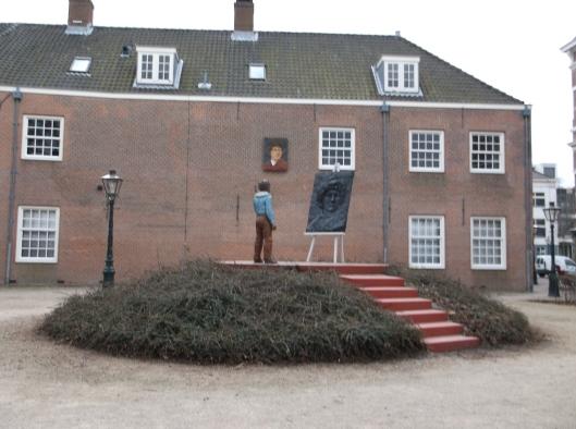 Memperingati Rembrandt, berhampiran rumah kelahirannya. Leiden, Belanda.